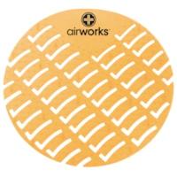 Tamis pour urinoir en CAV/E Airworks,, parfum d'agrumes, boîte de 10