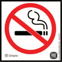 Safety Media Province of Ontario No Smoking Plastic Sign, White, 3.9