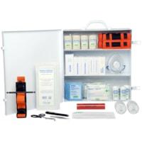 SAFECROSS Basic First Aid Kit, British Columbia, Level 3, #3, Metal Cabinet, Unitized