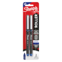 Sharpie Rollerball Pens, Blue, Needle 0.5 mm, 2/PK