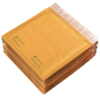Grand & Toy Self-Adhesive Bubble Mailers, Kraft, CD/DVD-Size, 7 1/4