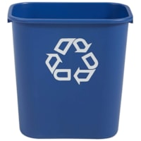 Rubbermaid Commercial 2956 Series Wastebasket, Blue with White Recycling Logo, 31 4/5 L Capacity