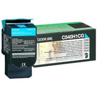 Lexmark C54x, X54x Cyan High Yield Return Program Toner Cartridge (C540H1CG)