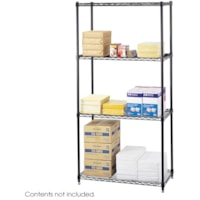Safco Commercial Wire Shelving, Black, 36