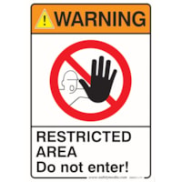 RESTRICTED WARNING STICK 7X10