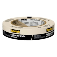 Scotch 2020 Contractor Grade Masking Tape, Tan, 24 mm x 55 m