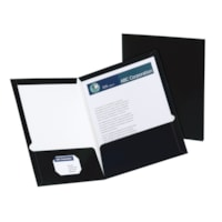 Oxford Showfolio Laminated Twin-Pocket Folders