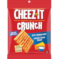 Cheez-It Crunch Baked Snack Crackers, Zesty Cheddar Ranch, 92 g, 6/BX