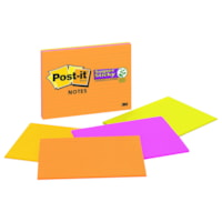 Post-it Super Sticky Meeting Notes in Rio De Janeiro Colour Collection, Lined, 8