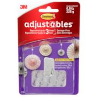 Crochets repositionnables Adjustables Command, transparent, capacité de 1/2 lb, 14 crochets et 30 bandes