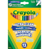 Crayola Ultra-Clean Washable Markers, Fine Tip