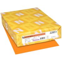 Papier couverture Astrobrights Neenah, couleur orange Cosmic Orange, format lettre, certifié FSC et Green Seal, 65 lb, rame