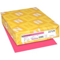 Papier couverture Astrobrights Neenah, couleur rose Plasma Pink, format lettre, certifié FSC et Green Seal, 65 lb, rame