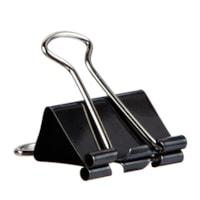 Grand & Toy Heavy-Duty Fold-Back Binder Clips, Black, Small/Medium Size (1