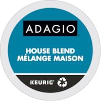 Adagio Single-Serve Coffee K-Cup Pods, House Blend, 24/BX