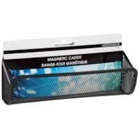 Merangue Magnetic Mesh Whiteboard Caddy, Black
