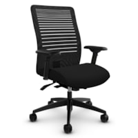 Global Loover Mid-Back Office Tilter Chair, Echo Black, Terrace Fabric