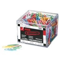 Acco Vinyl-Coated #1 Standard Paper Clips, 1 1/8