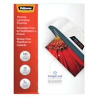 Fellowes Letter-Size Thermal Laminating Pouches, 5 mil, Pack of 100