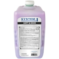 Diversey System 1 Soft and Sour Hyper-Concentrated Laundry Neutralizer and Fabric Softener, 3.1 L, 2/CT