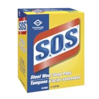 Tampons d'acier savonneux S.O.S. Commercial Solutions Clorox, boîte de 18