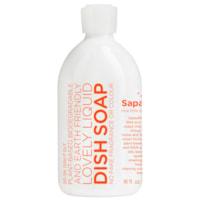 Sapadilla Liquid Dish Soap, Grapefruit and Bergamot, 473 mL