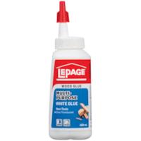 Colle blanche tout usage à séchage rapide Lepage, 400 ml