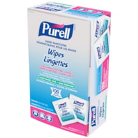 Purell Individually-Wrapped Hand Sanitizing Wipes, 62% Alcohol Content, 100/BX