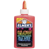 Elmer's Glow in the Dark Glue, Pink, 147 mL