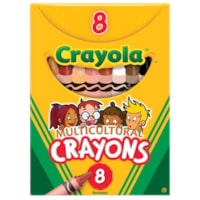 Crayola Multicultural Crayons, Assorted Skin-Tone Colours, 8/PK
