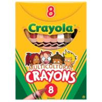 Crayons de cire multiculturels Crayola, couleurs de peau variées, emballage de 8