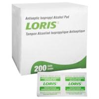 Tampons alcoolisés isopropyliques antiseptiques Loris