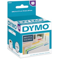 DYMO LabelWriter File Folder Thermal Labels, White, 9 1/6