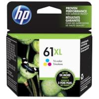 HP 61XL Cartouche d'encre tricolore à rendement élevé d'origine (CH564WN)