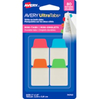 Avery UltraTabs Repositionable Mini Tabs, Assorted Primary Colours, 1