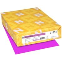 Papier couverture Astrobrights Neenah, couleur orchidée Outrageous Orchid, format lettre, certifié FSC et Green Seal, 65 lb, rame