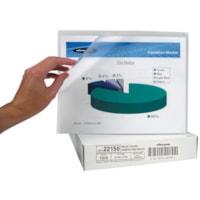 Wilson Jones Plastic Project Folders, Clear, Letter Size, 100/BX