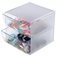 Cube de rangement empilable à 2 tiroirs Deflecto