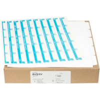 Avery Print & Apply Dividers with Easy Apply Labels, White Dividers/Tabs with Clear Labels, 8 1/2