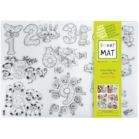 Funny Mat Reusable Table Top Colouring Mat, Numbers Theme, 18 9/10