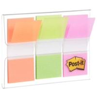 Post-it Standard Flags with On-The-Go Dispenser,Green/Orange/Pink, 1