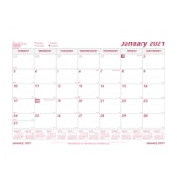 Brownline 12-Month Monthly Desk Pad Calendar Refill Sheets, 23 1/2