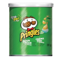 Pringles Grab & Go Stack Potato Chips, Sour Cream & Onion Flavour, 39 g, Carton of 12