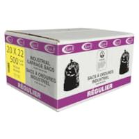 Sacs à ordures Eco II Manufacturing Inc., transparent, régulier, 20 po x 22 po, caisse de 500
