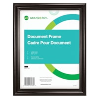 Cadre pour documents Grand & Toy, noir, format lettre