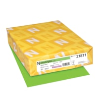 Neenah Astrobrights Cover Paper, Martian Green, Letter-Size, FSC And Green Seal Certified, 65 lb., Ream