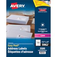 Avery 5962 Easy Peel Address Labels, White, 1 1/3
