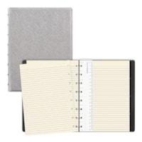 Filofax Saffiano Metallic Silver A5 Notebook