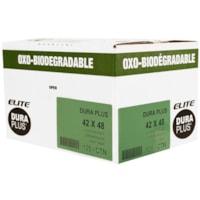 Dura Plus Elite OXO-Biodegradable Garbage Bags, Black, 42