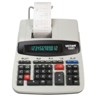 Victor 12-Digit Desktop Commercial Printing Calculator